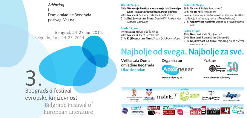 3. Beogradski festival evropske knjizevnosti opet