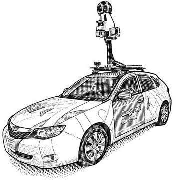Google Street View automobil