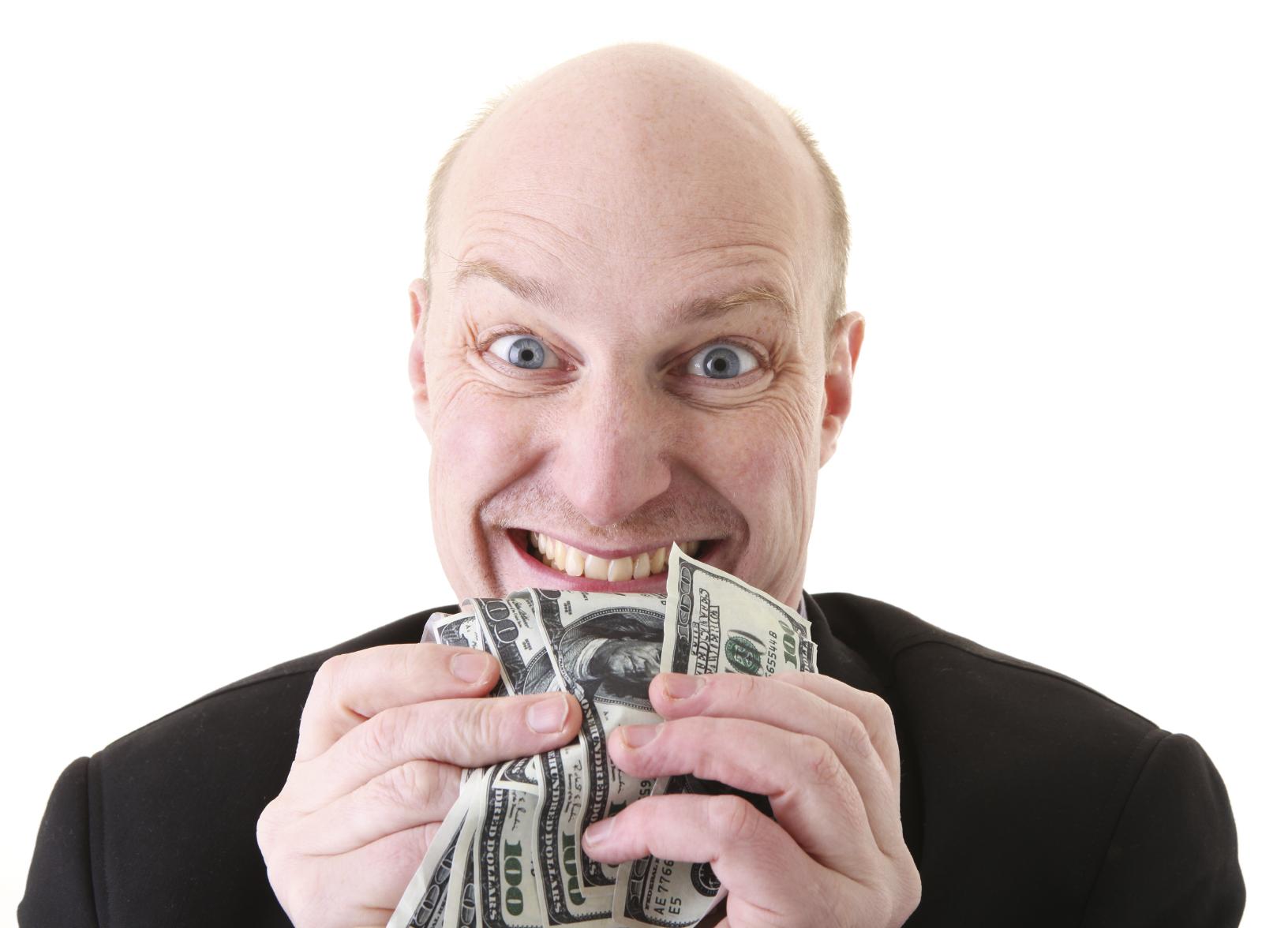 greed avarice dollars