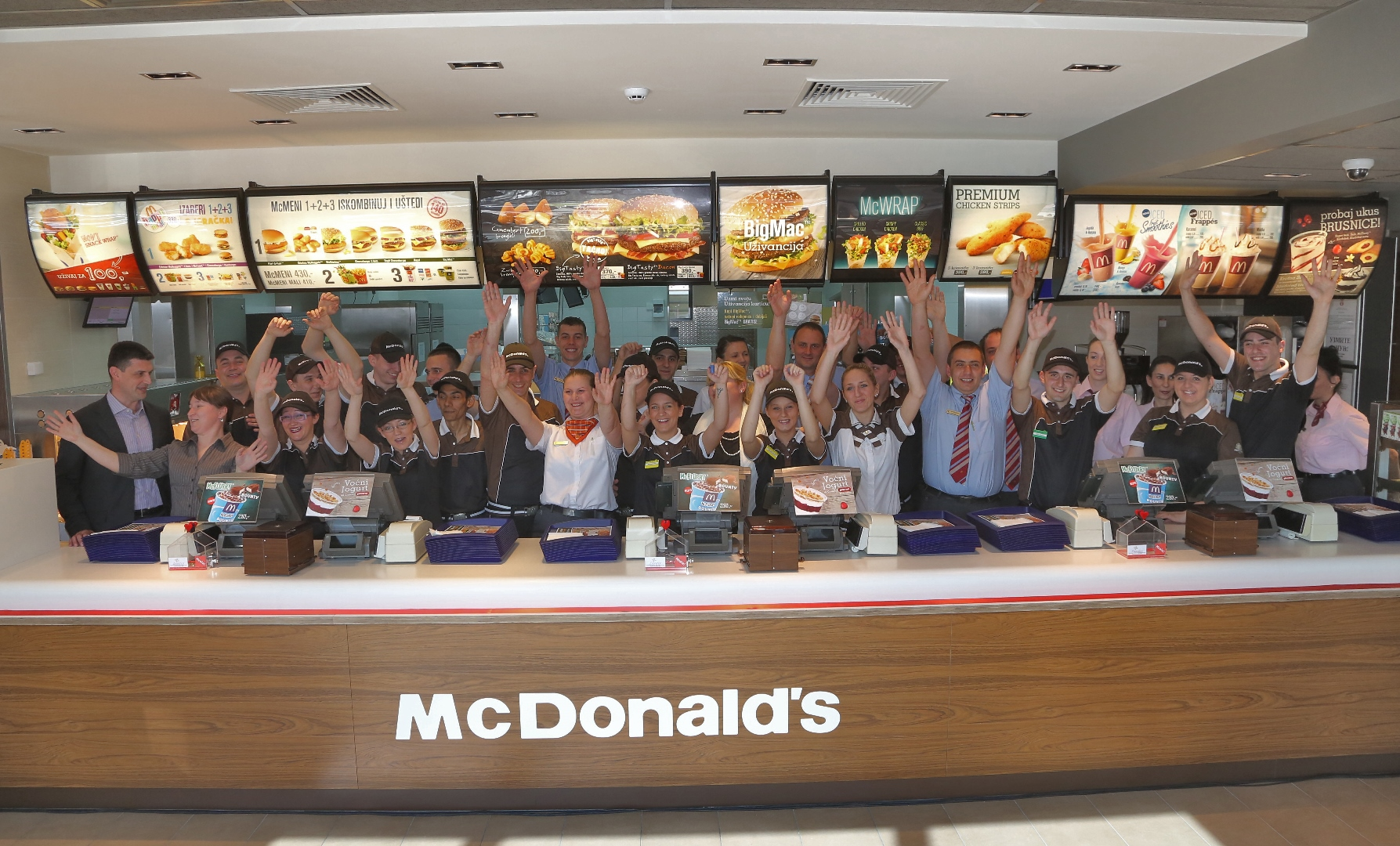 Zaposleni u novom McDonalds restoranu
