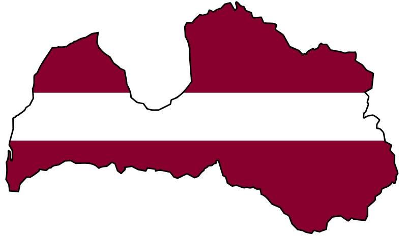 latvian-flag-map